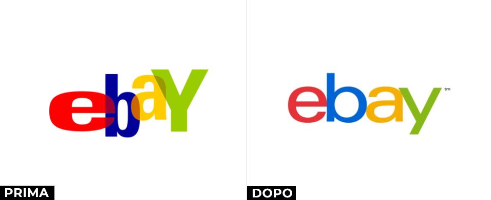 ebay logo prima e dopo