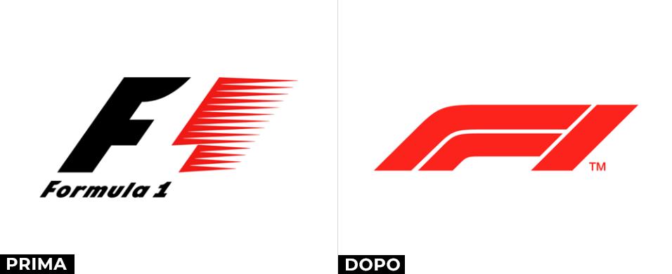 formula 1 logo prima e dopo
